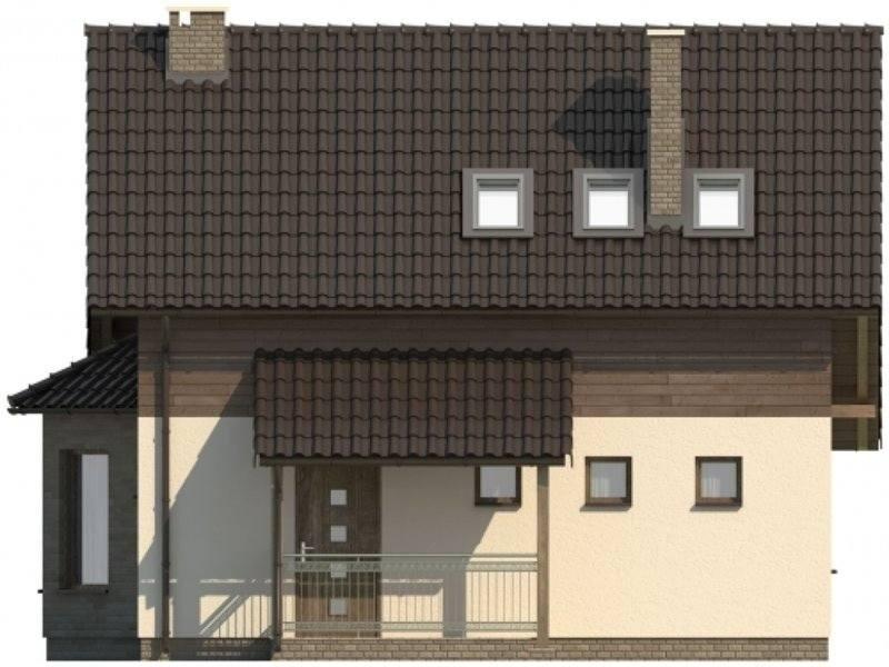 Vedere fata casa cu 4 camere