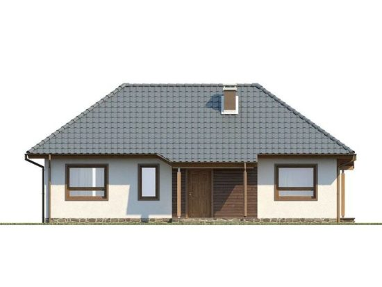 Vedere fata casa cu 4 camere la parter