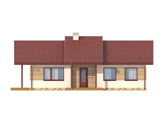 Vedere fata casa cu 4 camere si dependinte