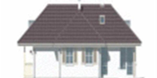 Vedere fata casa cu 4 camere si veranda