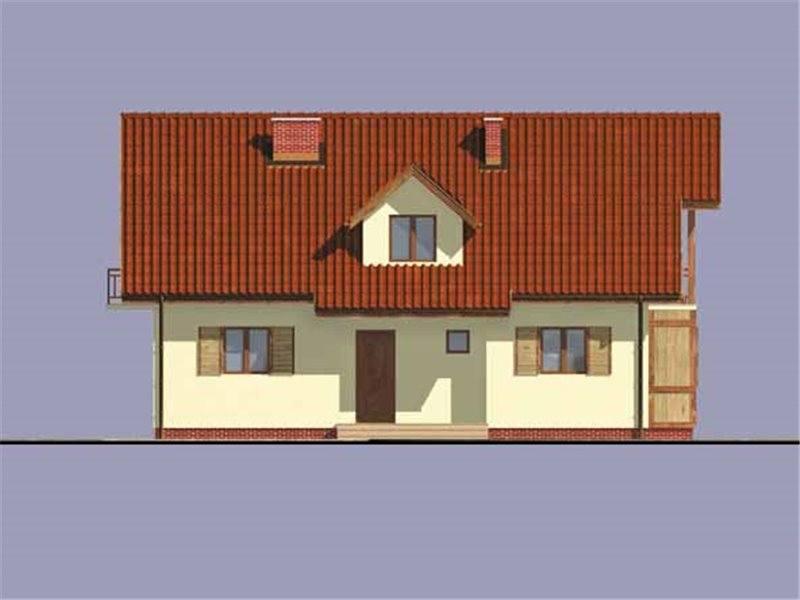 Vedere fata casa cu 5 camere