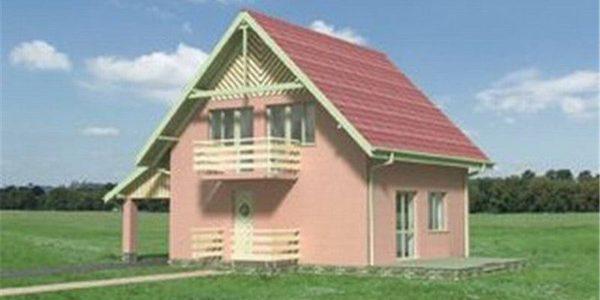 Vedere fata casa cu P+M cu 4 camere