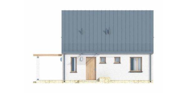 Vedere fata casa cu acoperis inalt