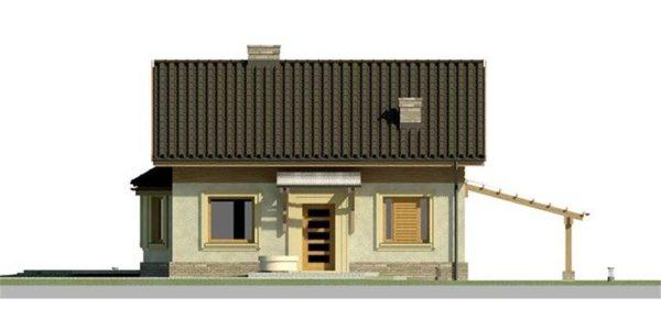 Vedere fata casa eleganta cu 3 dormitoare