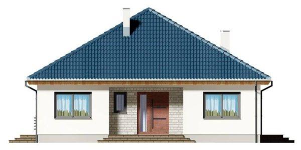 Vedere fata casa eleganta cu 4 camere