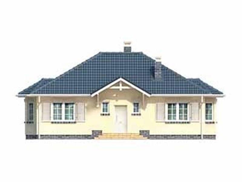 Vedere fata casa familiala cu 4 camere