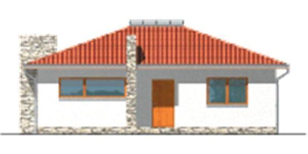 Vedere fata casa interesanta cu 4 camere