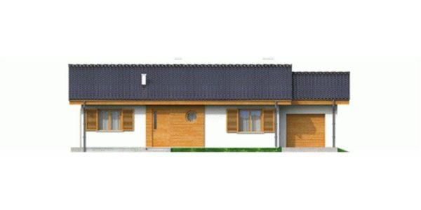 Vedere fata casa mica cu 4 camere si garaj