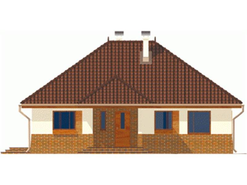 Vedere fata casa mica cu 4 camere