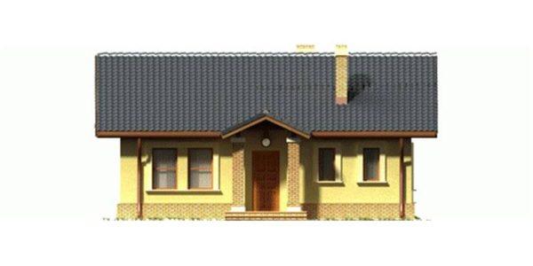 Vedere fata casa mica cu etaj