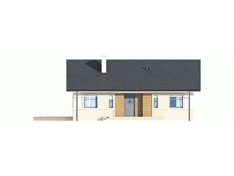 Vedere fata casa mica cu terasa