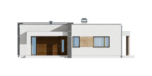 Vedere fata casa moderna cu 3 camere