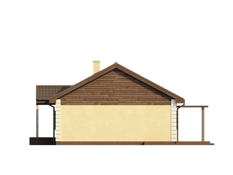 Vedere laterala casa de mici dimensiuni