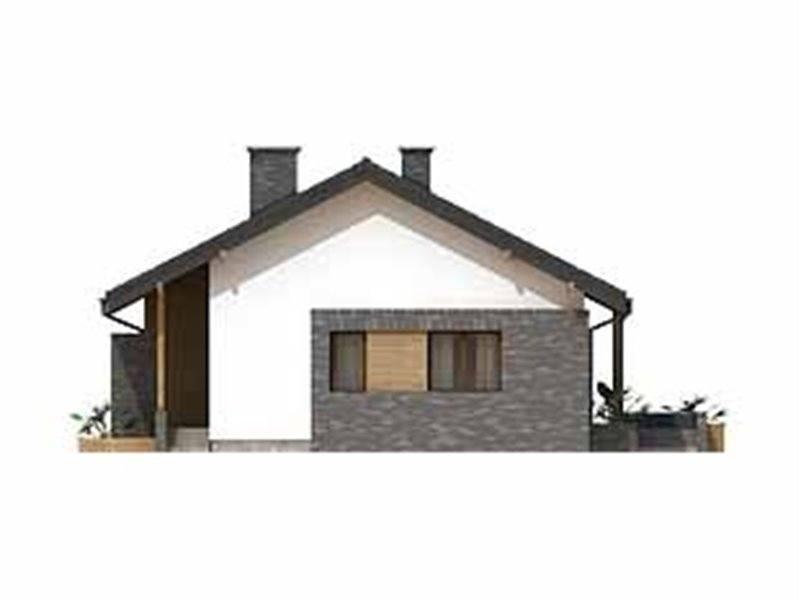 Vedere laterala casa mic cu pod