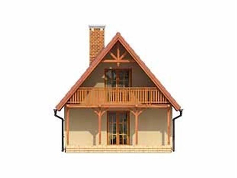 Vedere spate casa cu 2 balcoane