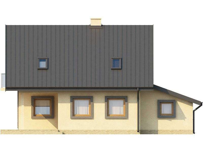 Vedere spate casa cu 3 dormitoare si 3 bai