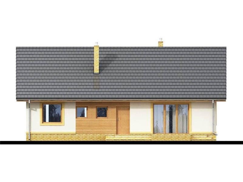 Vedere spate casa cu 3 dormitoare
