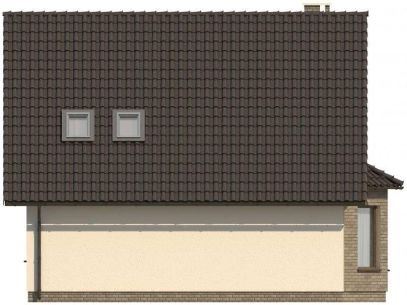 Vedere spate casa cu 4 camere