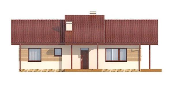 Vedere spate casa cu 4 camere si dependinte