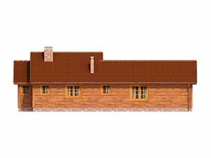 Vedere spate casa cu 4 camere si garaj