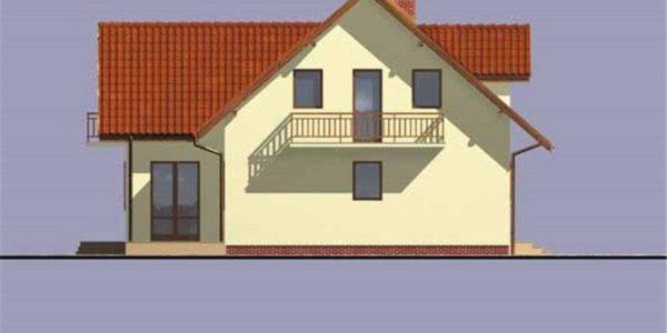 Vedere spate casa cu 5 camere