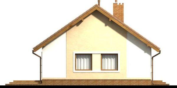 Vedere spate casa de mici dimensiuni
