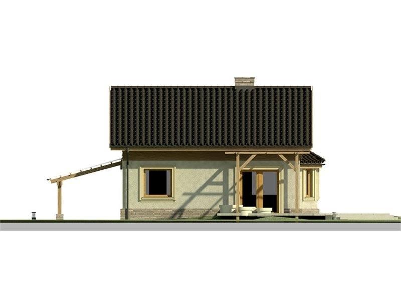 Vedere spate casa eleganta cu 3 dormitoare