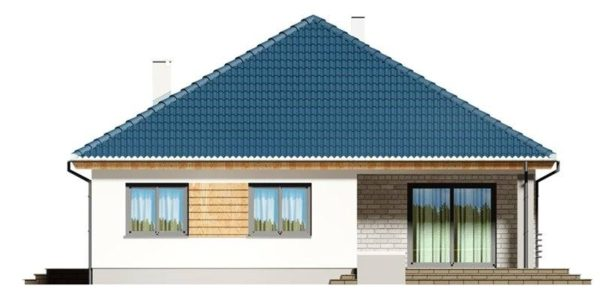 Vedere spate casa eleganta cu 4 camere