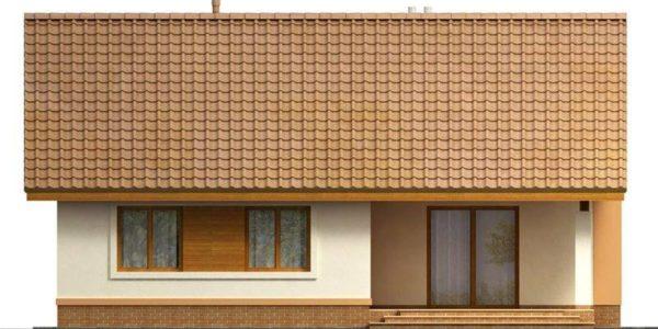 Vedere spate casa mica cu 3 dormitoare