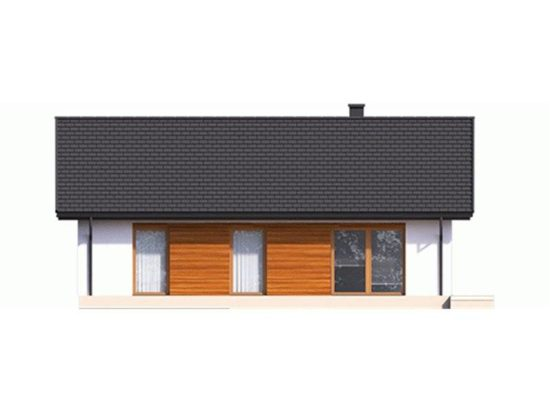 Vedere spate casa mica cu 4 camere