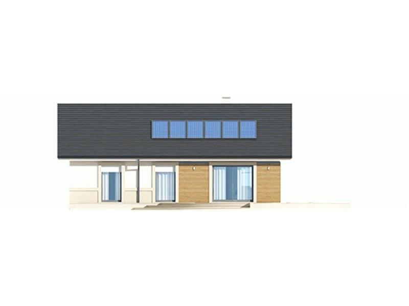 Vedere spate casa mica cu terasa