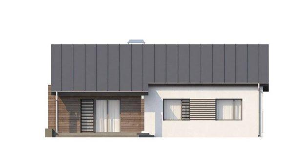 Vedere fata casa moderna mica