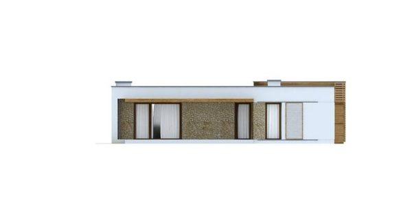 Vedere spate casa moderna mica