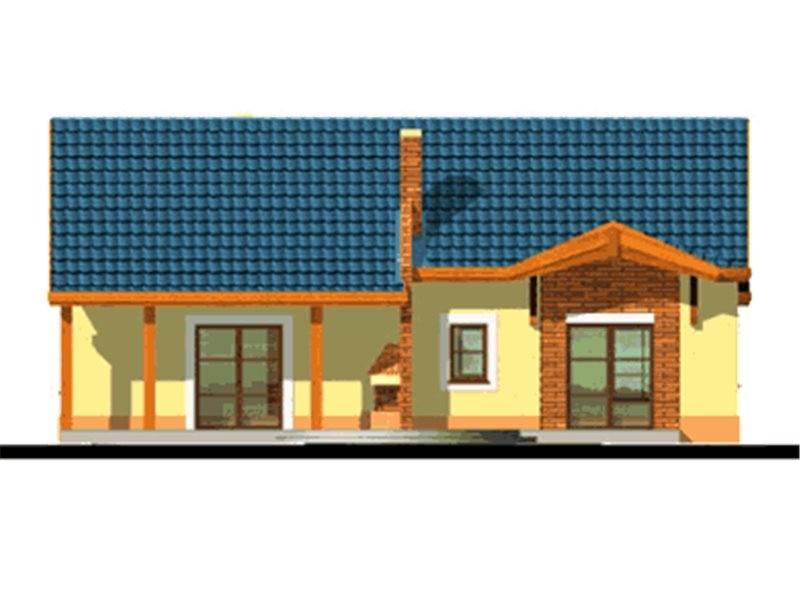 Vedere spate casa parter cu 4 camerwe