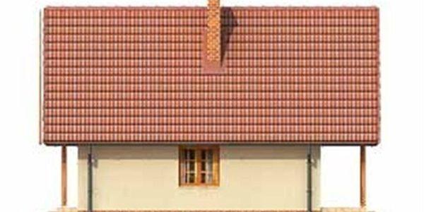 Vedere stanga casa cu 2 balcoane
