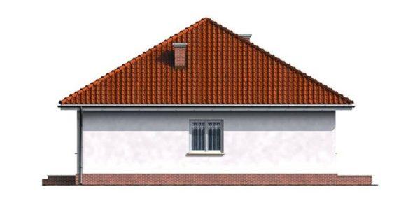 Vedere stanga casa cu 3 camere si garaj