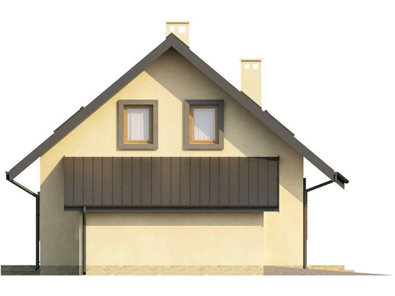 Vedere stanga casa cu 3 dormitoare si 3 bai