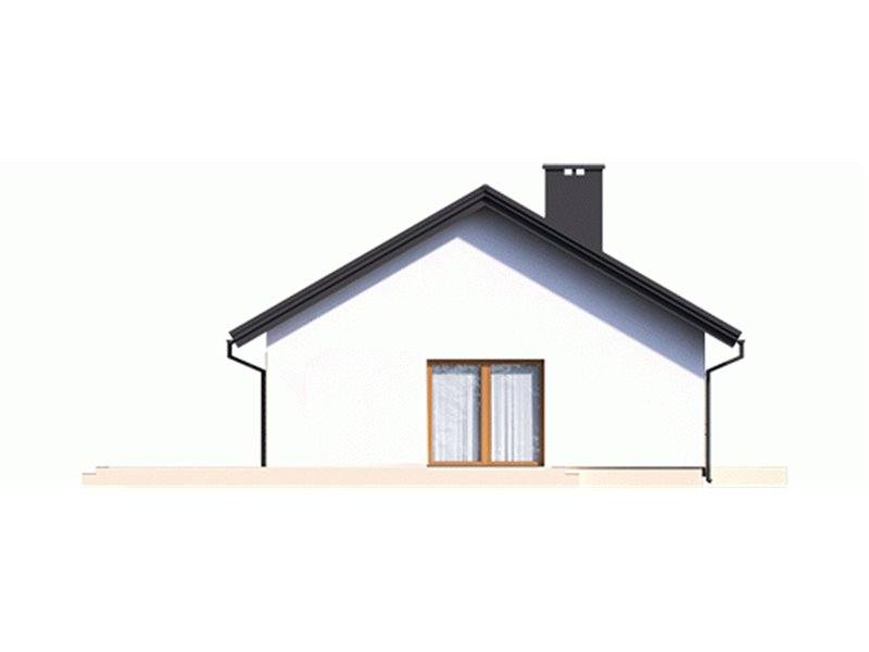 Vedere stanga casa cu 3 dormitoare