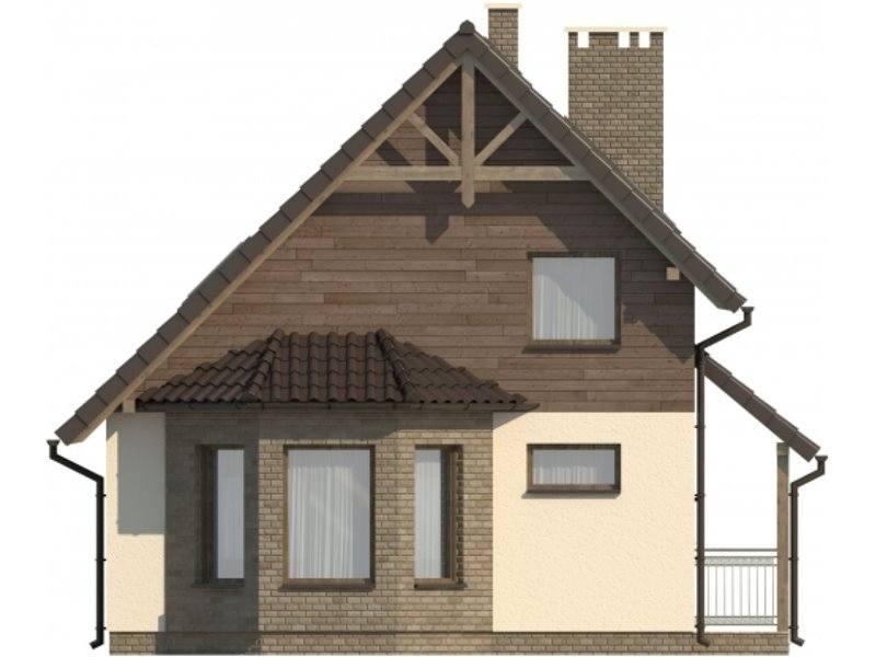 Vedere stanga casa cu 4 camere