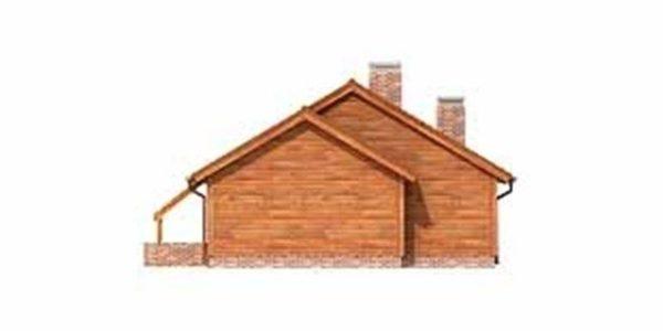 Vedere stanga casa cu 4 camere si garaj