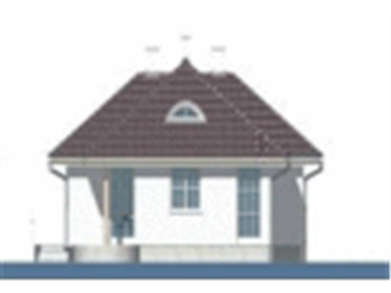 Vedere stanga casa cu 4 camere si veranda