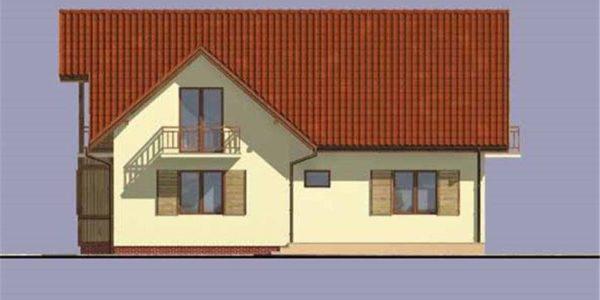 Vedere stanga casa cu 5 camere