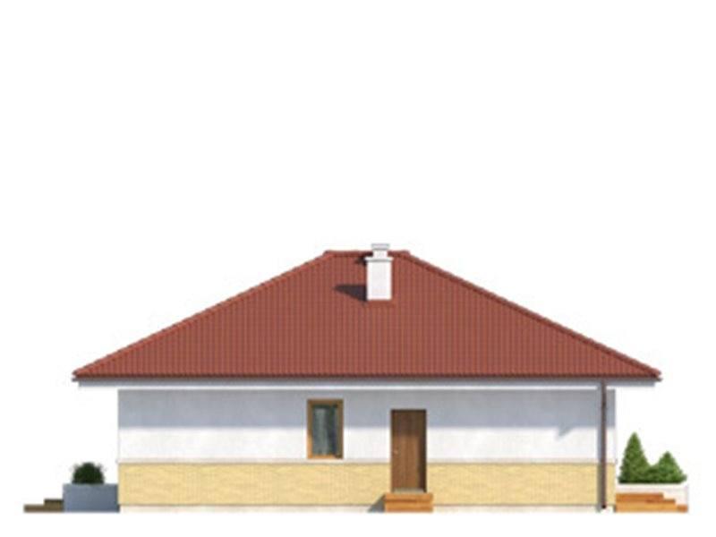 Vedere stanga casa cu pod
