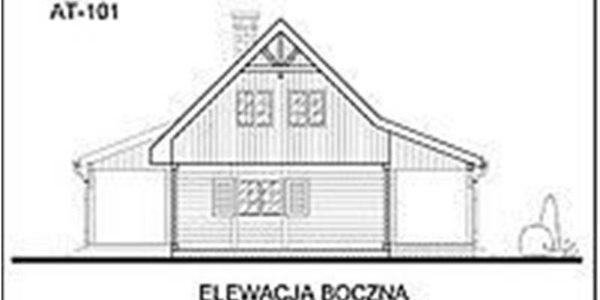 Vedere stanga casa din lemn cu 5 camere