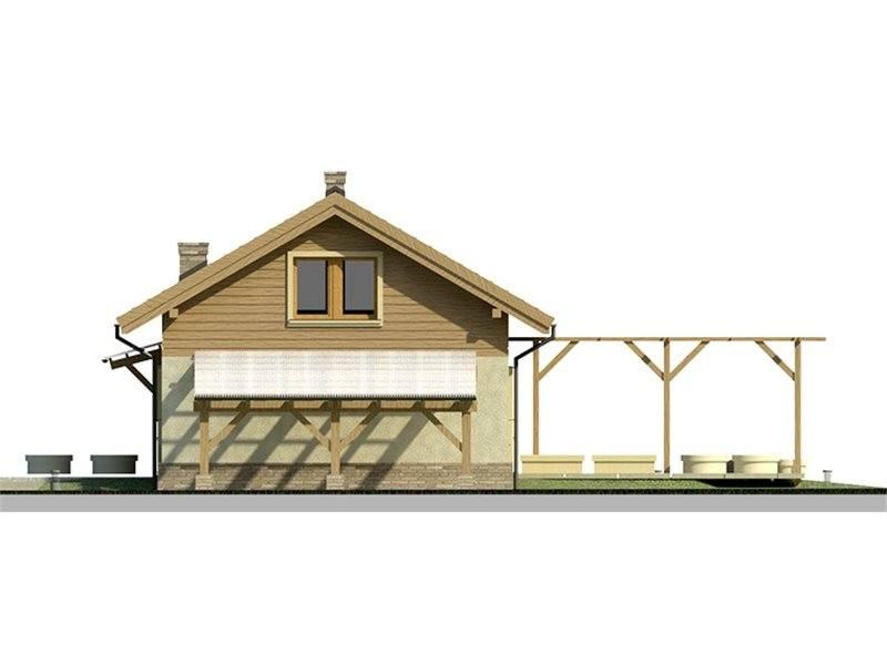 Vedere stanga casa eleganta cu 3 dormitoare