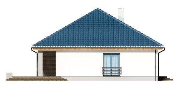 Vedere stanga casa eleganta cu 4 camere