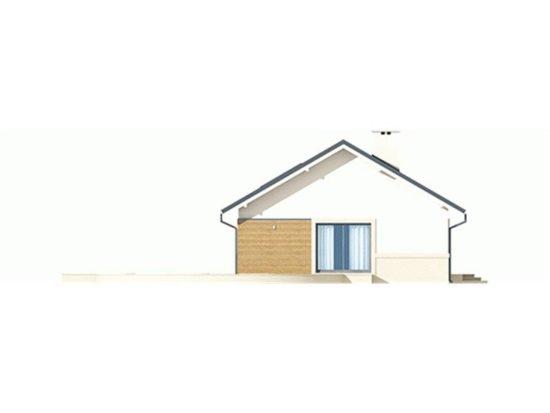 Vedere stanga casa mica cu terasa