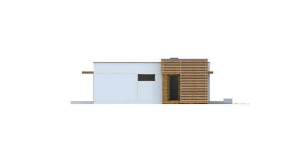 Vedere stanga casa mica moderna