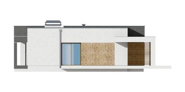 Vedere stanga casa moderna cu 3 camere