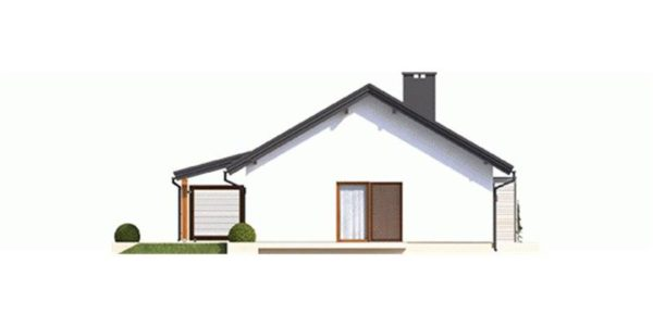 Vedere stanga casa parter cu garaj